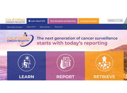 DEVELOPING THE CALIFORNIA CANCER REGISTRY BRAND AND WEBSITE